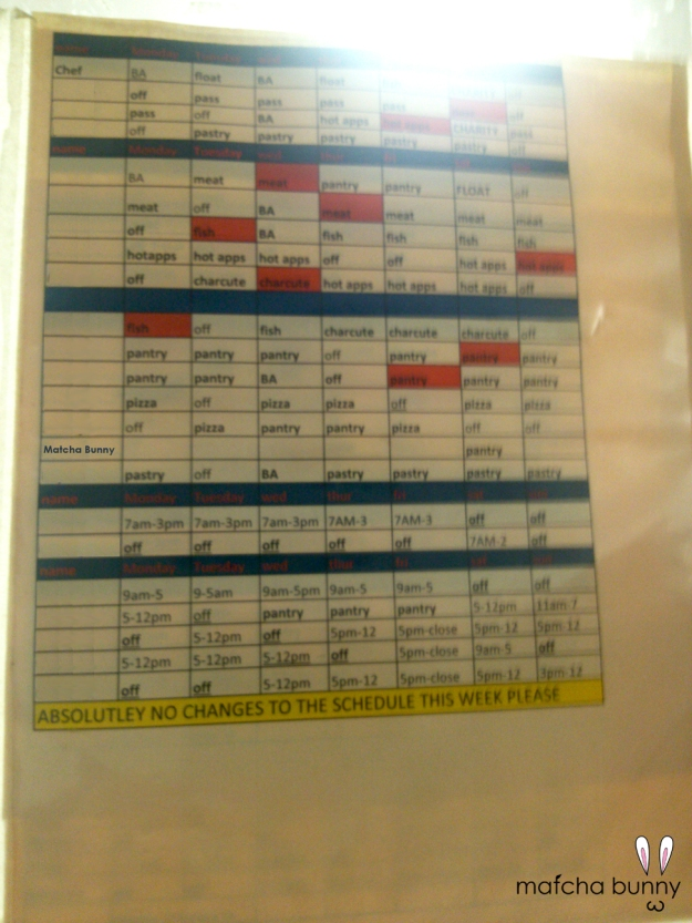 The Schedule!
