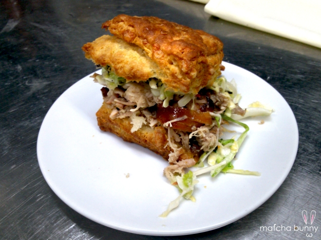 Family Meal: Cheddar Biscuits with Smoked Chicken and Coleslaw
