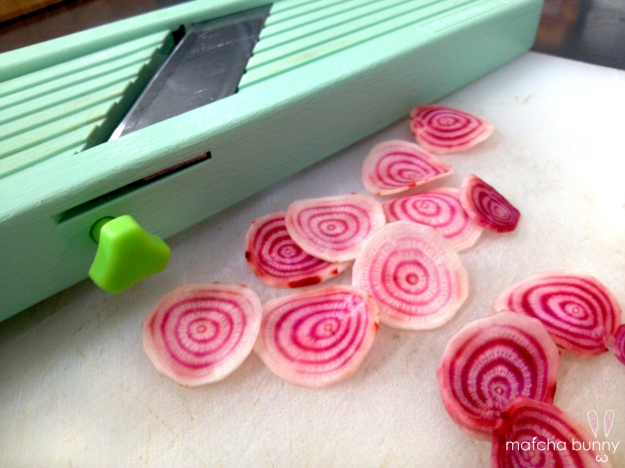 Shaved Candy-Striped Beets - aren't they cool?