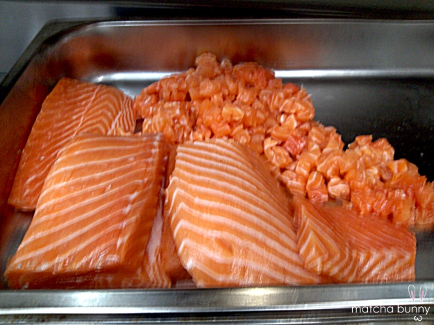 Dicing Up Salmon for Tartare