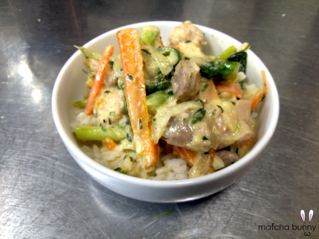 Family Meal: Green Curry Stir-fry