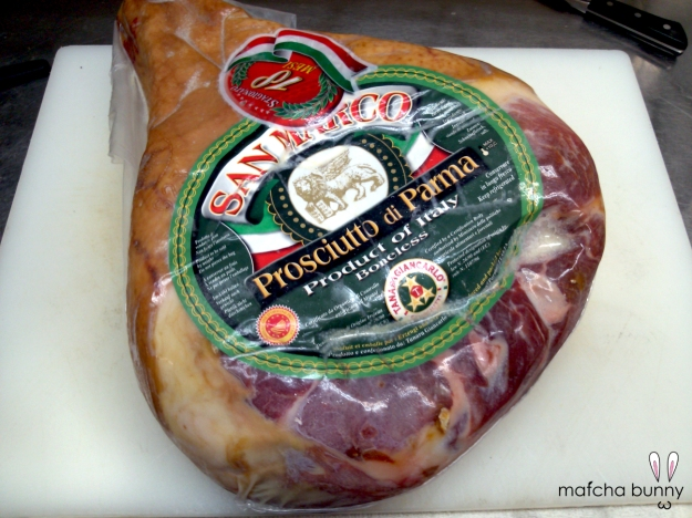 Imported Prosciutto di Parma from Italy - a whole leg!