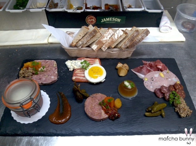 Charcuterie Board including my new braised veal tongue terrine!