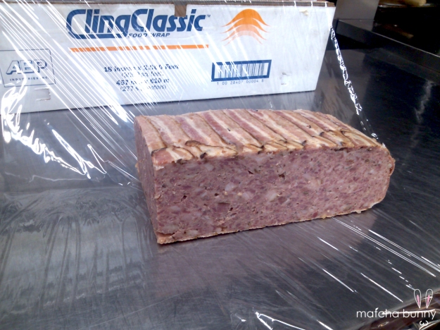 Pate de Campagne (pork & bacon country terrine)