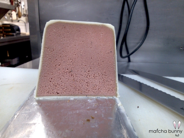 A Cross-Section View of the Chicken Liver Mousse Terrine