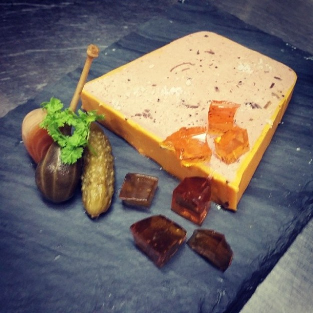 Pork & Truffle Pate, Lobster Butter, Apple Cider Jelly