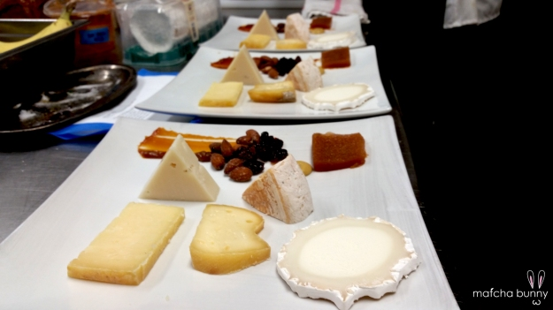 The Five-Cheese Course for the Wine-Tasting Dinner (I didn't have time to take pictures of my work)